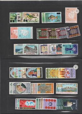 St. Vincent 1970/77 Collection Stamps/sheets/booklets Mnh