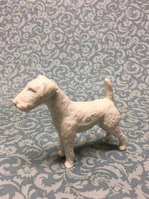 "70's Goebel Dog Fox Terrier West Germany Figurine 3-3/8"" tall White bisque"
