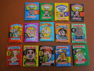 Garbage Pail Kids  Topps  USA  GPK  14 unopened packs original series 2 to 15