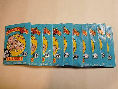 Garbage Pail Kids GPK USA 10 unopened packs original series 8 eight from box
