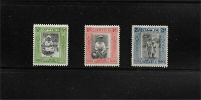 Classic Jamaica Scott #B1 B2 B3 Mint Hinged Set CV $27.25