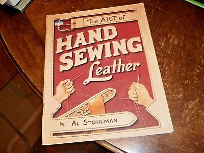 vintage book The art of hand sewing leather Al Stohlman 1977