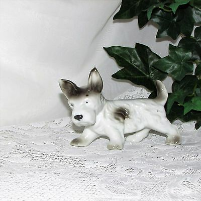 Vintage Terrier Dog Figurine Puppy West Highland Scotty Japan Mij Great Gift Pet