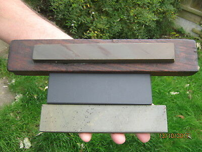 3 Small Natural Sharpening Stones :- Charnley Forest, Welsh Slate & Llyn Idwal