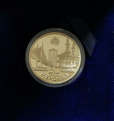 30th Anniversary of Malaysian Independence silver coin
