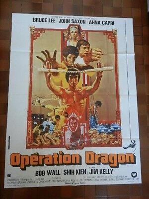 17/ Poster Affiche De Cinema 120X160 Operation Dragon Bruce Lee Karate Kung-Fu