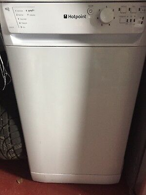 Hotpoint Sdl510 Slimline Dishwasher In White