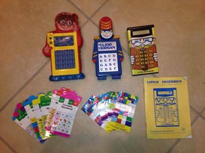 x 3 Retro Electronic Toys  Major Morgan , Maximus Computer & Little Professor