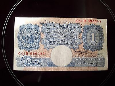 1940 One Pound Note  K.O.Peppiatt