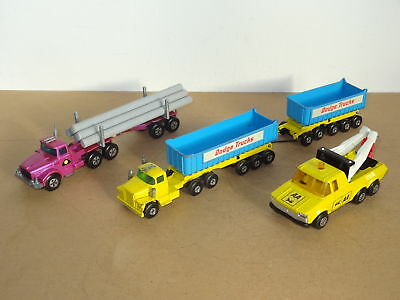 A Collection of Vintage  Matchbox Lesney Kingsize Trucks - Job Lot
