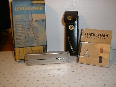 Leatherman PST II in Original Box , Leather Sheath, Papers