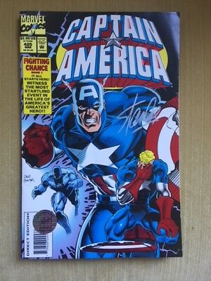 Stan Lee - Marvel Comics Creator - Hand Signed Captain America Comic Book - Coa