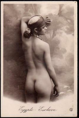 Vintage French Real Photo Postcard - Egypt - Beautiful Nude Woman - RP