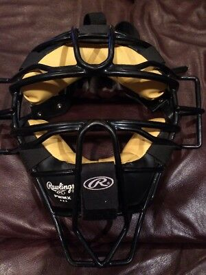 Rawlings PWMX High Visibility Catchers or Umpire Mask  Great Shape!