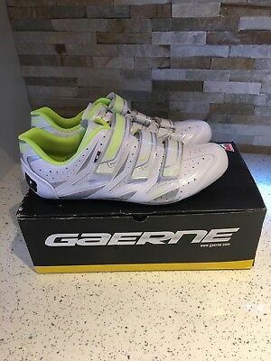 Gaerne G White/Lime Size 10 Cycling Shoes