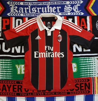 AC MILAN 2012 Home Football shirt Small (Italy Serie A Rossoneri Ibrahimovic)