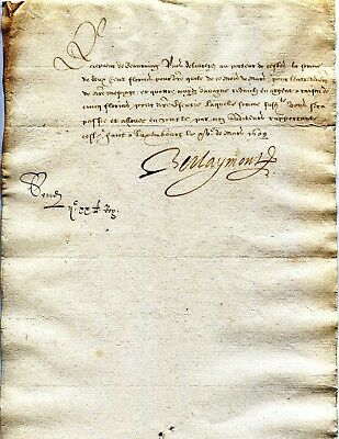 Luxembourg acknoledgment of debt dated LUXEMBOURG 1609 (spanish period) RRR