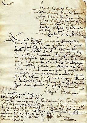 Luxembourg acknoledgment of debt dated LUXEMBOURG 1611 (spanish period) RRR