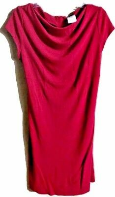 Maternite'  maternity Dress Size Medium  Stretch Dress Cranberry