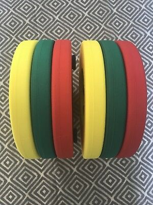 6 x Delphin Swim Discs for Children - Armbands Flotation Aid - Red Yellow Green