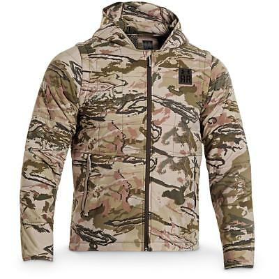 NEW Under Armour 23 2-in-1 PrimaLoft Ridge Reaper® Barren Hooded Camo Jacket 3XL