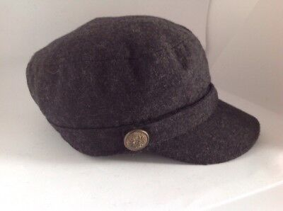 Charcoal Grey Baker Boy Style Hat One Size