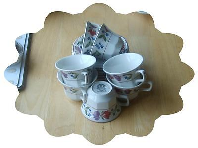 Adams OLD COLONIAL 7 cups and saucers