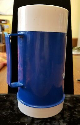 Vintage Navy Blue Thermos, 10oz