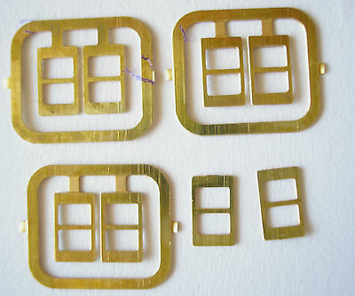 BUCKLES 8 Brass dollls house 1/12th scale findings bag belt luggage strap HB