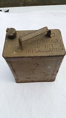 Ww2 British Early 2 Gallon Petrol Can 1936 Dated
