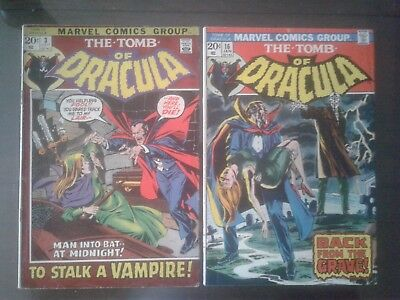 Tomb of Dracula #3 16 24 32 36 38 45 51 53  Bronze age lot of 9