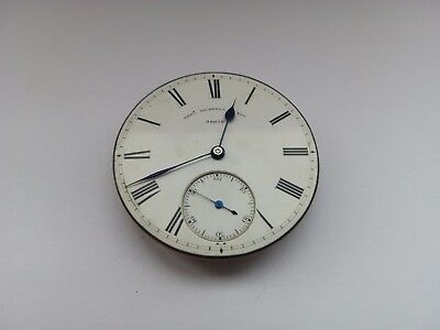 Antique Thomas Russell & Son Liverpool Pocket Watch Movement No 98078 Runs