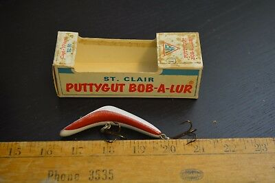 nice old st clair puttygut bob a lure patriot red white blue in the box