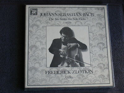 BACH: THE SIX SUITES FOR SOLO CELLO - Frederick Zlotkin