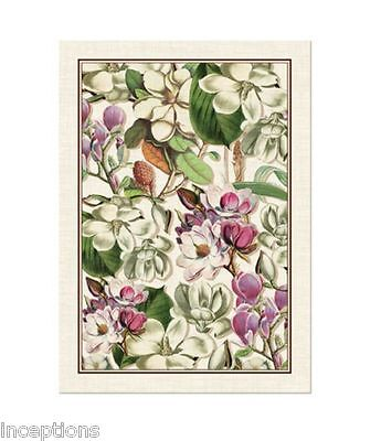 Michel Design Works Cotton Kitchen Tea Towel Magnolia Floral   NEW