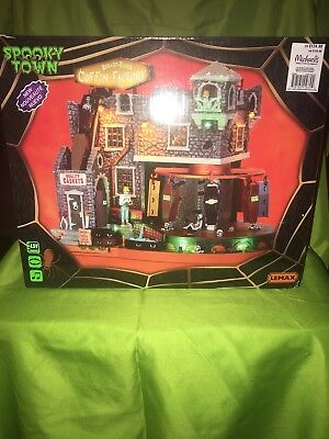 Lemax Spooky Town Box-of-Bones Coffin Factory 2014