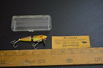 nice old jenson sporting goods the zipper lure minnow bait crazy texas made