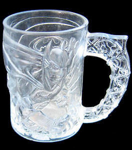 Batman Forever McDonalds Etched Glass Collector Cup 1995 Made in France