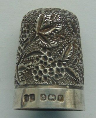 1906 Henry Perkins Birmingham Solid Silver Thimble