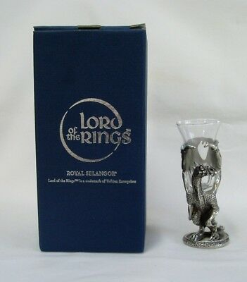 Lord of the Rings - Smaug Figure with Shot Glass - Royal Selangor Pewter - Boxed