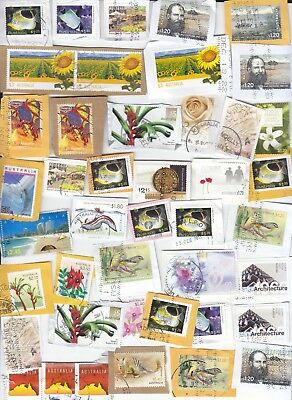 collection AUSTRALIA Sheet stamps kiloware used on paper,great !!!!!!