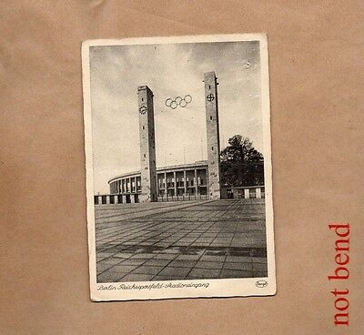 1936 Berlin Olympics stadium entrance ,Stengal card unposted xc1
