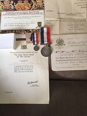 South African Medal For War Service Group
