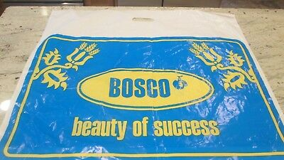 "New- Bosco-Sports Store Of Russia-Logo Shopping Bag-2-Sided-23 1/2X 27""'largebag"