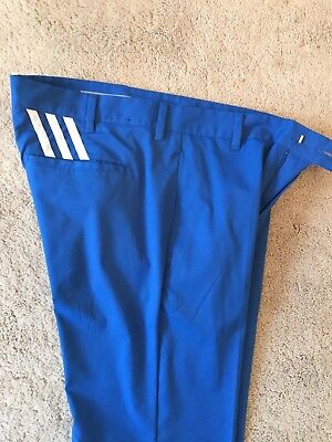 Adidas Golf Trousers Electric Blue Size 32/32. Worn Once!