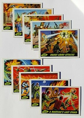 MARS ATTACKS HERITAGE Deleted Scenes Subset of 10 Trading Card Lot 2012 Release