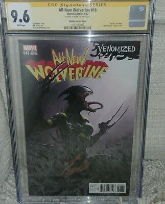 All New Wolverine #18 Mattina Variant CGC SS 9.6 signed by  Stan Lee
