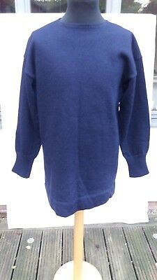 WW2 BRITISH ROYAL NAVY Blue Jersey,  'FROCK,SWEATER'