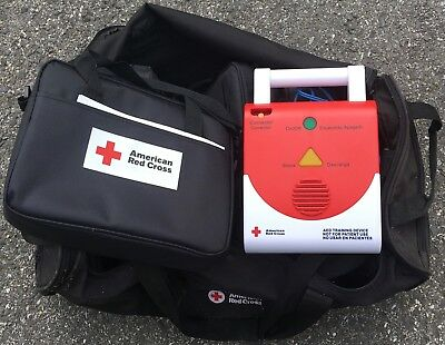 6 AED Trainers-American Red Cross, 4 Preston Adult CPR Manikins, White