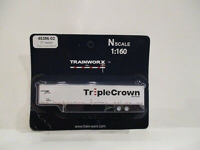 Trainworx N Scale - 53' Trailer - Triple Crown - New